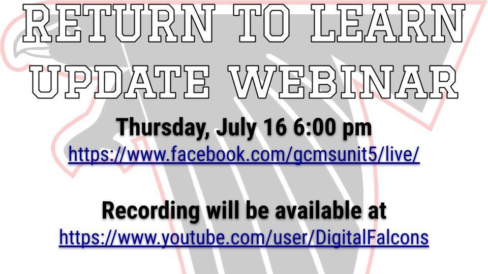 Return to Learn Update Webinar