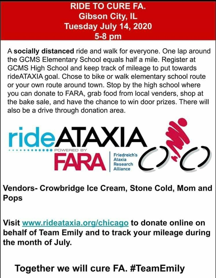 Ride/Walk for Ataxia