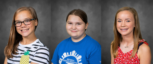 April 2020 Middle School Students of the Month